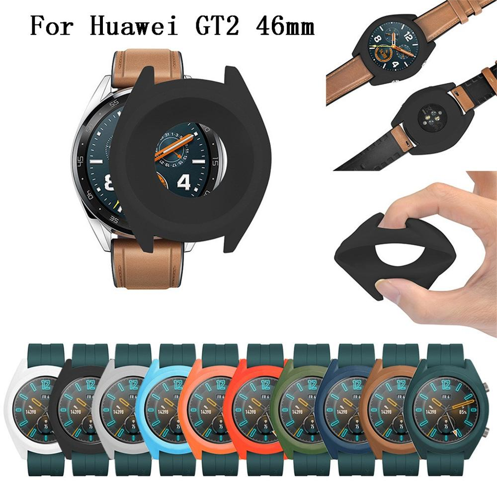 Soft TPU Full Case Cover Shell Frame Bumper Protective For Huawei GT 2 46mm Smart Watch Wearable Accessories Protector GT2