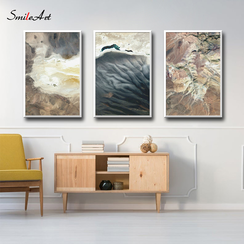 Abstract Painting Design Local Map Of Rock Wall Art Minimalist Simple For Living Room Decor Canvas Poster Picture