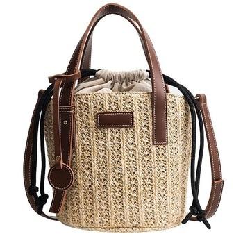 ASDS-Women Straw Shoulder Bag Vintage Bags Mini Messenger Beach Casual Wicker - discount item  14% OFF Women's Handbags
