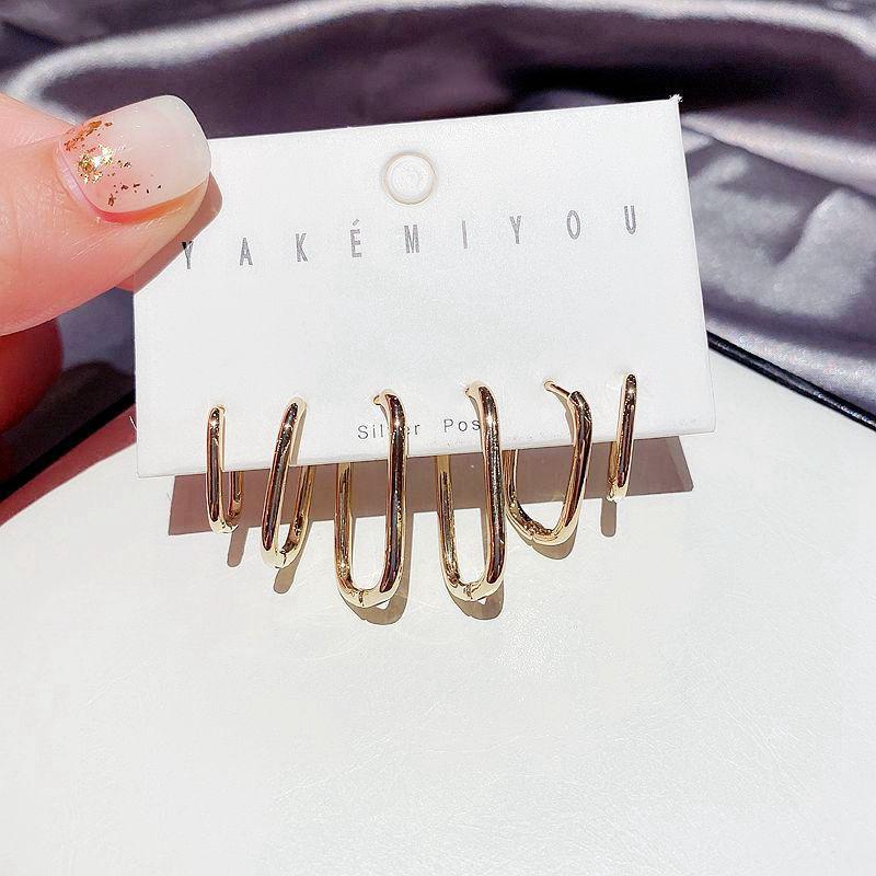 Женские Геометрические серьги-кольца SIPENGJEL, серьги в стиле хип-хоп золотого цвета, ювелирные изделия 2021