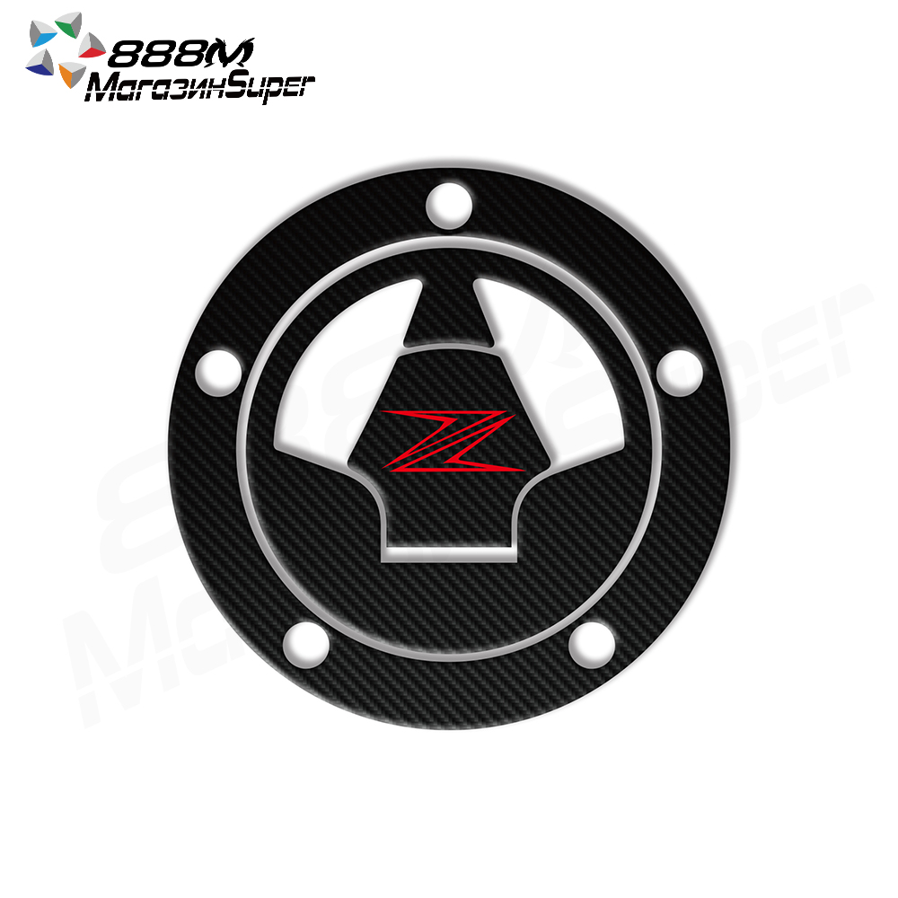 Fuel Tank Cap Sticker 3D Carbon Motorcycle FUEL CAP STICKER Fit Ninja 650R ER-6N Z1000 Z1000SX Z800 Z750X14 ZZR1400 1400 GTR