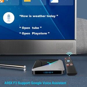Image 4 - أندرويد 9.0 RGB ضوء صندوق التلفزيون الذكية Amlogic S905X3 USB3.0 1080P H.265 4K 60fps واي فاي مشغل جوجل يوتيوب A95X F3 الهواء 8K TVBOX