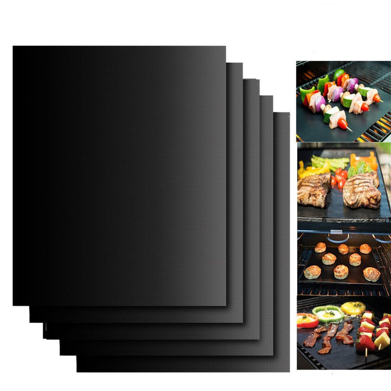 Baking Mat BBQ Cooking Mat Kitchen Accessories Black Reusable Nonstick Sheet Oven Tray Kitchen Gadgets Kitchen BBQ accessories