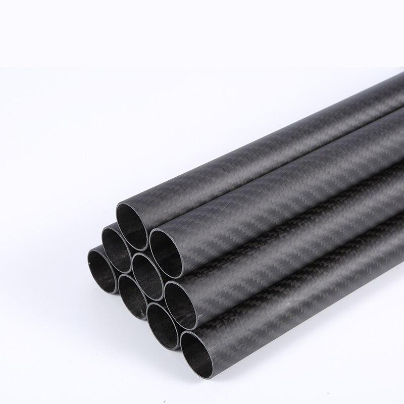 Length 100mm 1PC Carbon Fiber Tube Drone Accessories OD10mm 12mm 14mm 15mm 16mm 18mm 19mm Factory Direct Sales CNC Cut