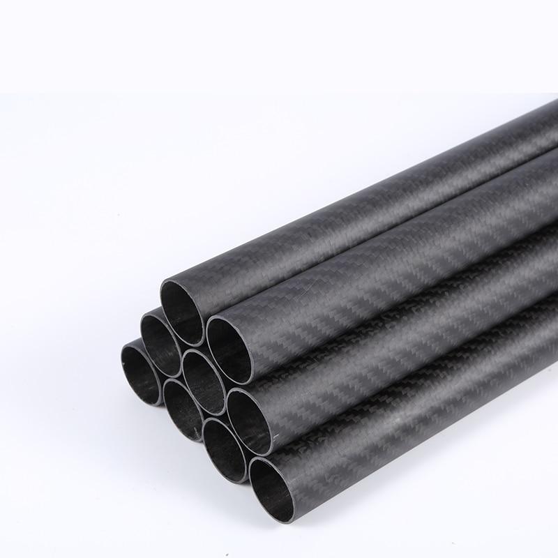 Length 100mm 1PC Carbon Fiber Tube Drone Accessories OD20mm 22mm 24mm 25mm 27mm 28mm 30mm 35mm 36mm Factory Direct Sales CNC Cut