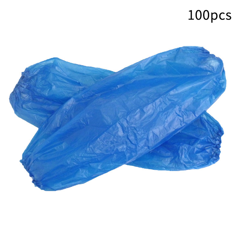 100 Pcs Restaurant Household Non Toxic Elastic Hotel Durable Sleeves Cover Cleaning Waterproof Arm Plastic Salon Disposable