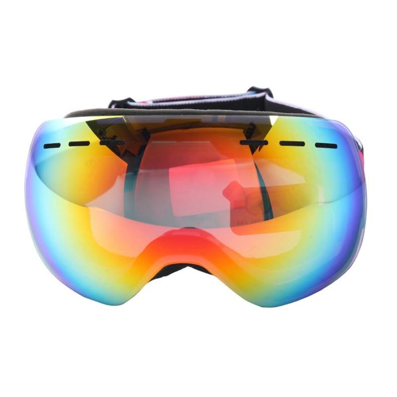 Unisex Rimless Ski Goggles Double Layers Anti-Fog Big Ski Mask Glasses Skiing Frameless Spherical Snow Eyewear