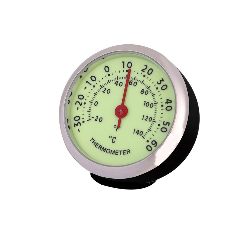 Car Thermometer Car Clock Electronic Watch Hygrometer Quartz Clock High Temperature Resistant