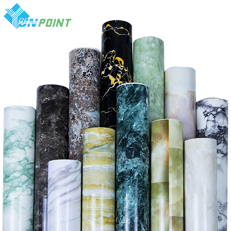 0.4x3m Kitchen Oil-proof Sticker Self-adhesive Marble Pattern Wall Sticker Countertop Desktop Cabinet Stove Waterproof Wallpaper