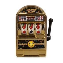 цена на Mini Casino Jackpot Fruit Slot Machine Money Box Game Toy For Kids Adult Decompression Toys Slot Machine Toy Gold
