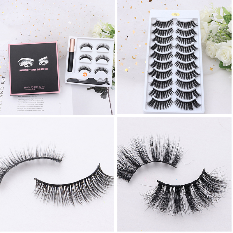Hot New Mink 3D <font><b>Eyelashes</b></font> <font><b>Set</b></font> Waterproof Long Lasting <font><b>Magnetic</b></font> Liquid <font><b>Eyeliner</b></font> Many Types Available image