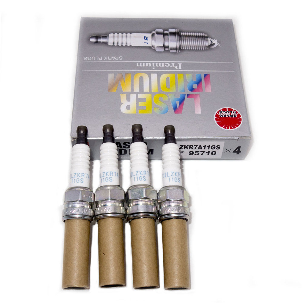 4Pcs 95710 Laser Iridium Plugs Spark Plugs DILZKR7A11GS 95710 For HONDA ACURA title=