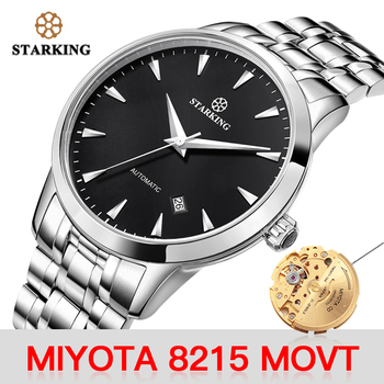 цена на STARKING Mechanical Watch Men Miyota Movt Stainless Steel Wristwatch Sapphire Automatic Self-wind Men Watch Relogio 3ATM AM0171