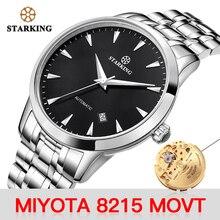 STARKING นาฬิกาผู้ชาย Miyota Movt สแตนเลสนาฬิกาข้อมือ Sapphire Automatic Self WIND นาฬิกาผู้ชาย Relogio 3ATM AM0171