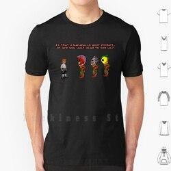 É uma banana no seu bolso? Camiseta masculina adolescente 6xl jogos de vídeo pixelart pixel arte sprite sprites retro clássico