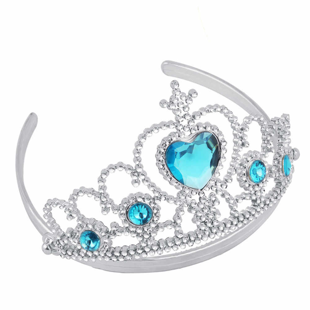 4 Buah Manis Gadis Ratu Putri Anak Headband Mahkota Pesta Rambut Hadiah Perhiasan Aksesoris Cosplay Aksesoris Cosplay Halloween Liburan Pesta Hadiah