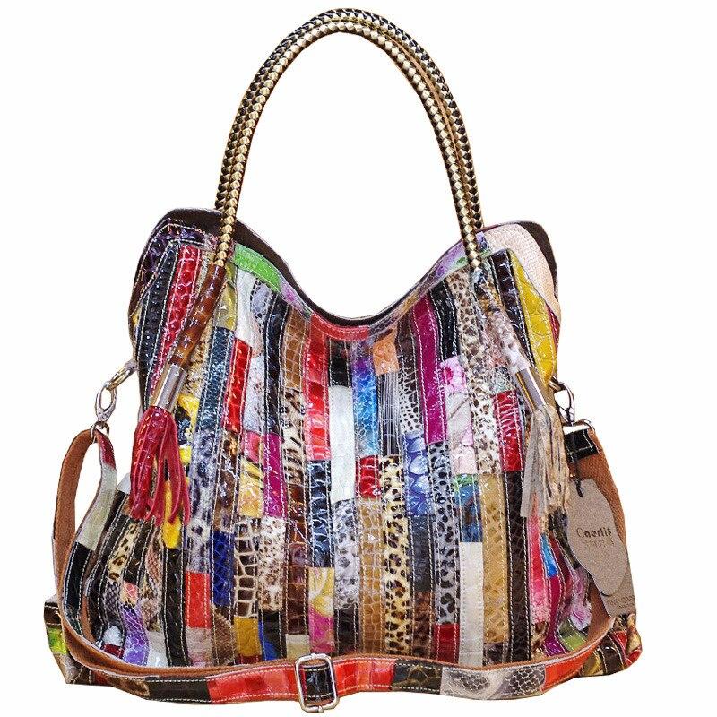 Bolsas de Couro Genuíno para Mulheres do Couro Bolsas de Luxo Genuíno para as Mulheres Paillette Bolsas Femininas Designer Cobra 2020