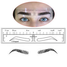 10 pieces Microblading Eyebrow Stencils Stickers Permanent Makeup Supplies Disposable Eyebrow Mold Template Drawing Guide