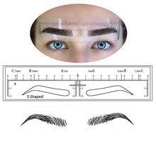 Adesivos para sobrancelhas e maquiagem permanente, adesivos descartáveis para desenho de sobrancelhas, 10 peças