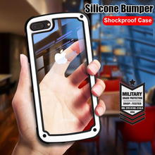 Luxury Armor Silicone Bumper Case On The For IPhone 6 6s 8 7 Plus Shockproof Case Cover For IPhone 8 7 6 6s Plus Soft Phone Case for iphone 6s case for iphone 6 macaron phone bag cases silicone case for iphone 5 5s se 6 6s 7 8 plus case cover for iphone 6