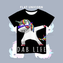 2020 dab unicorn 3d baby cute t shirt kids clothes summer cartoon