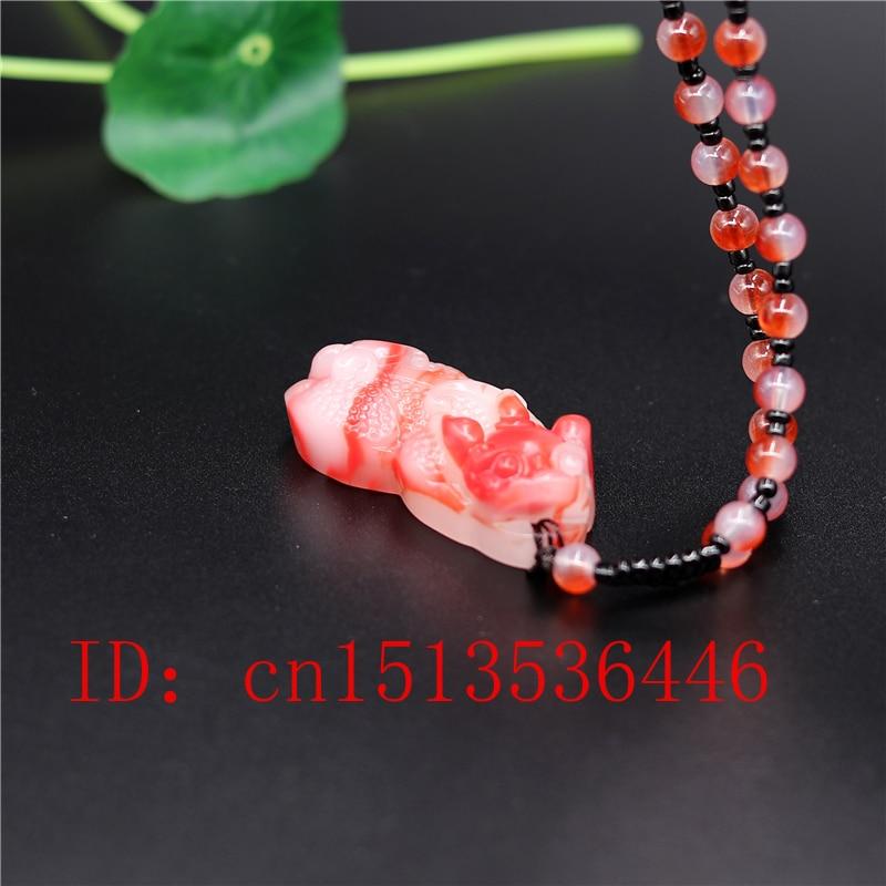 Chinese Natural White Jade Sculptured Pi Xiu Pendant#