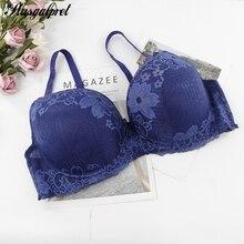 Plusgalpret Underwired Bras Women Plus Size Brassiere 95 100 105 110 115 120 DD E Cup Big Floral lace Mujer Grande BH