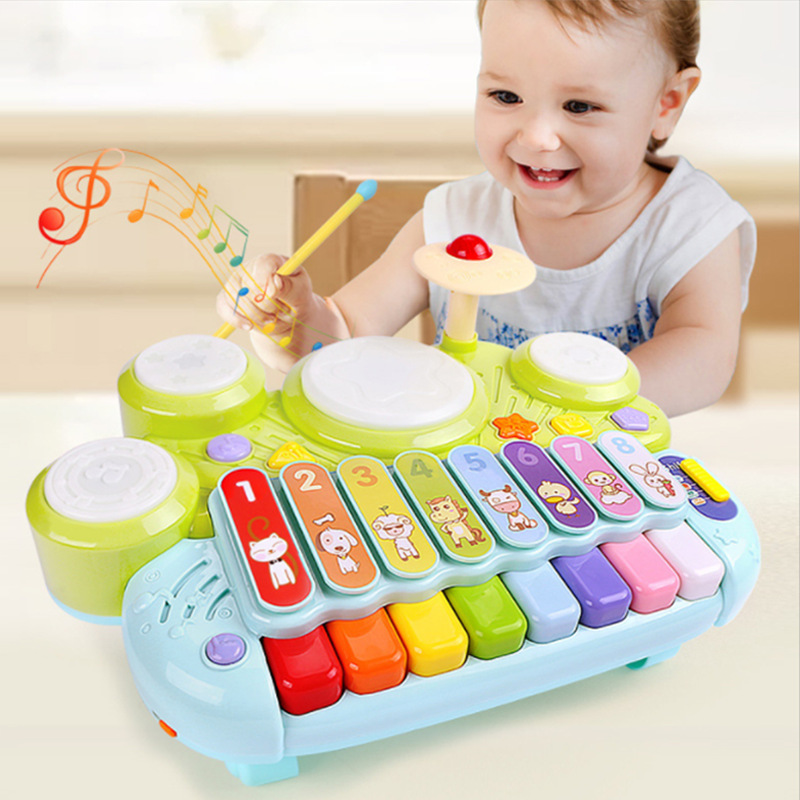 GOODWAY Genuine Product Children Multi-functional 3-in-1 Electronic Xylophone You Xi Gu Music Drum Infants Educational Toy