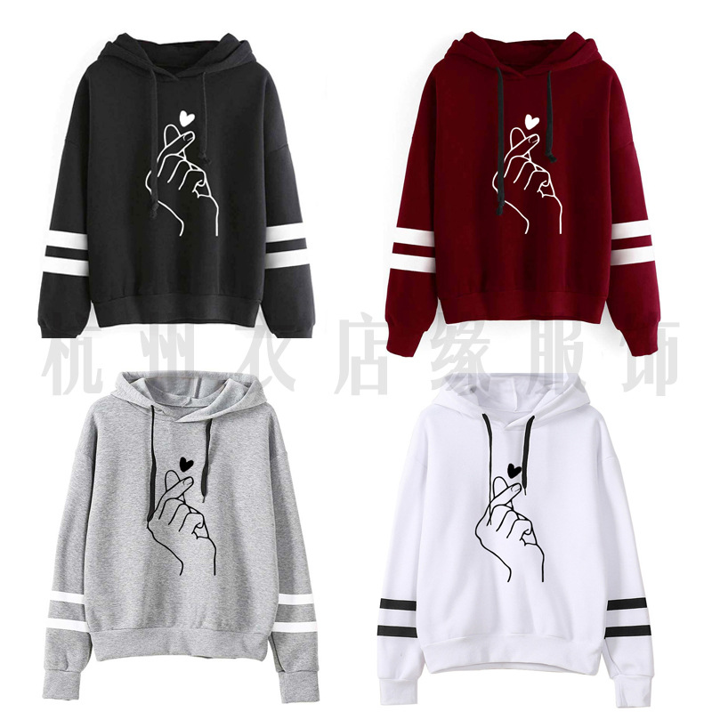Cross Border For A Generation Of Fat Wish Amazon Hot Selling Women's Loose-Fit Hoodie BTS Printed S-XXL