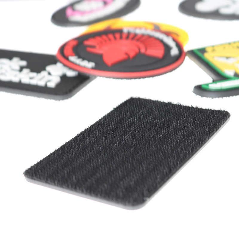 Brazalete de tela PVC sello ropa tejido de costura insignia 3d uniforme táctico mochila personalidad moral capítulo vendaje brazalete