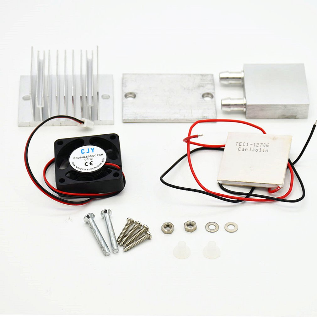 Diy Kit Thermoelectric Peltier Refrigeration Cooling System Power Fan TEC1-12706