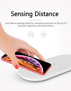 Image 5 - 3 In 1 휴대용 무선 충전기 아이폰 11 프로 삼성 S8 빠른 무선 충전 패드 애플 시계 IWatch 4 3 2 1 Airpods