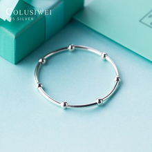Colusiwei 2020 New Silver Beads Charm Bracelet Unique Design 925 Sterling Silver Fashion Minimalist Bangle  Gifts for Women