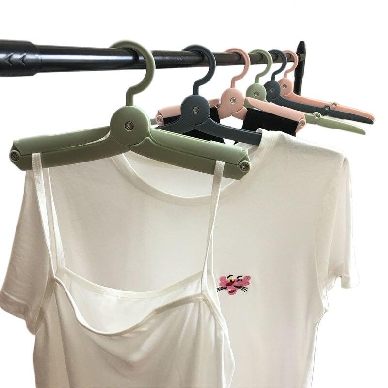 Foldable Portable clothes hanger Plastic Hangers Multifunction Travel Folding Hanger Home Storage Underwear Drying Rack