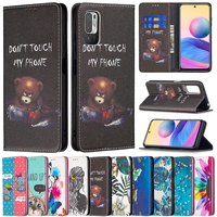 Brieftasche Farbe Malerei Starke Magnetismus Fall Für Xiaomi Redmi Hinweis 10/10S/10 Pro Max/9/9S/9 Pro/8T 10 9 9A 9C 8A Poco M3/F3/X3 GT