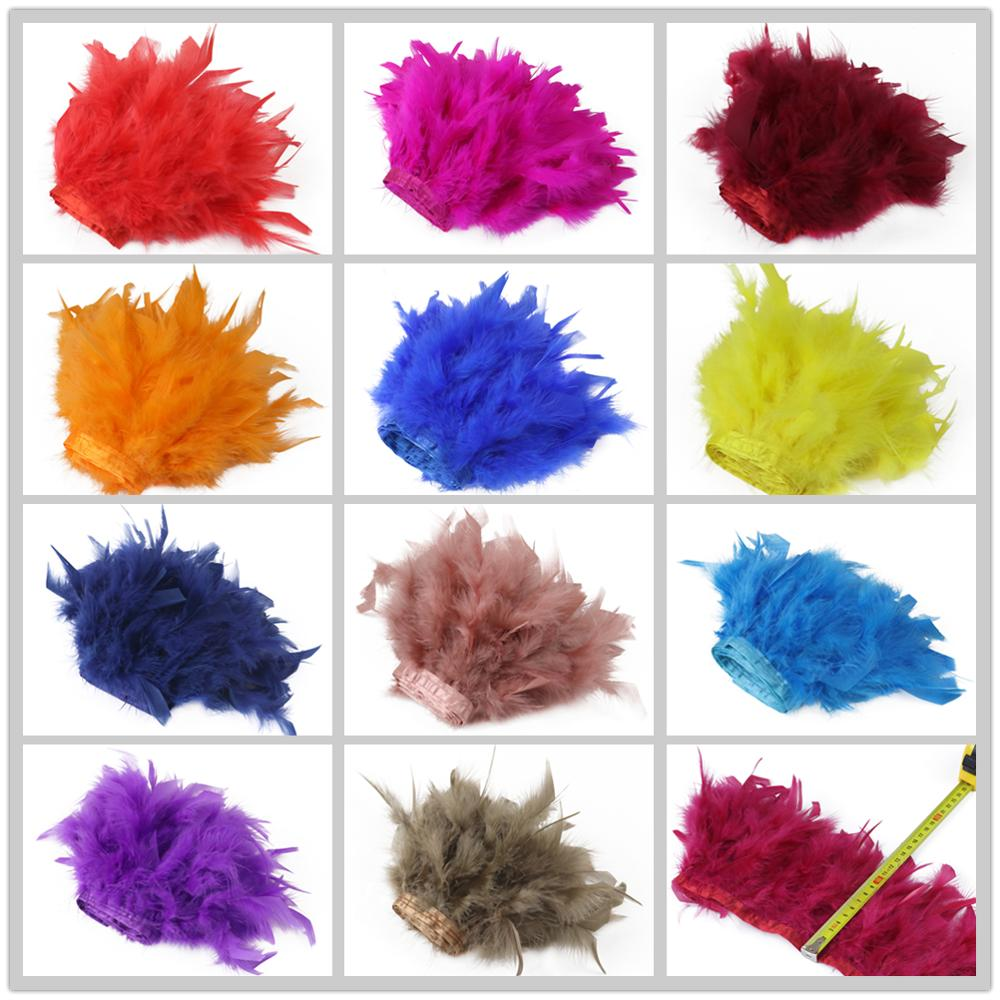 1//5//10 Meters Black Ostrich Feather Cloth Trims 3.15-6 Inch//8-15 Cm Carnival Diy