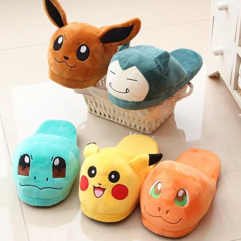 Pet Elf Pokemon Pikachukabi Veterinary Warm Fur Indoor Cotton Slippers Widened And Thickened Cotton Slippers