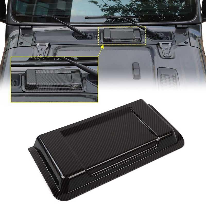 Capot d'admission de moteur ABS capot d'admission d'air Scoop pour Jeep Wrangler JL JLU 2018 2019, Fiber de carbone