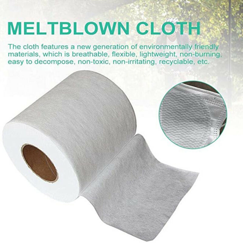 100M Meltblown Nonwoven DIY Fabric Mouth Face Craft Filter Interlining Cloth