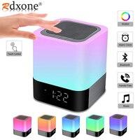 Drahtlose Bluetooth Lautsprecher Lampe Mit LED Touch Nacht Licht, Uhr, MP3,RGB Multi-Farbe Ändern Nacht Lichter, Alle in 1