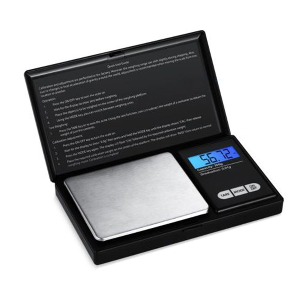 Weighing Scale Portable Stainless Steel Mini High-precision Digital Pocket Scale Electronic Jewelry Gold And Silver Scales