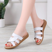 Женские кожаные шлепанцы jzzddown летние сандалии на плоской
