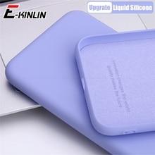 Vloeibare Siliconen Effen Telefoon Case Soft Volledige Back Cover Voor Huawei Mate 40 30E 30 20 X P40 P30 P20 pro Xl Lite 5G Plus