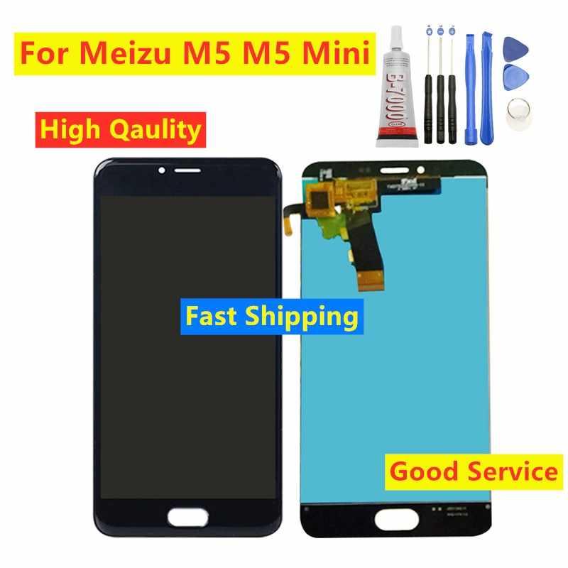 "عالية Qaulity 5.2 ""ل Meizu M5 M5 Mini M611D M611H M611Y M611A شاشة إل سي دي باللمس شاشة الاستشعار محول الأرقام الجمعية استبدال"