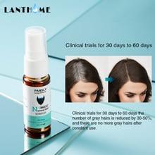 Cor orgânica do cabelo da barba restaurar ao pulverizador natural do cabelo para a cura erval unissex branco cabelo tratamento cinza capa permanentemente