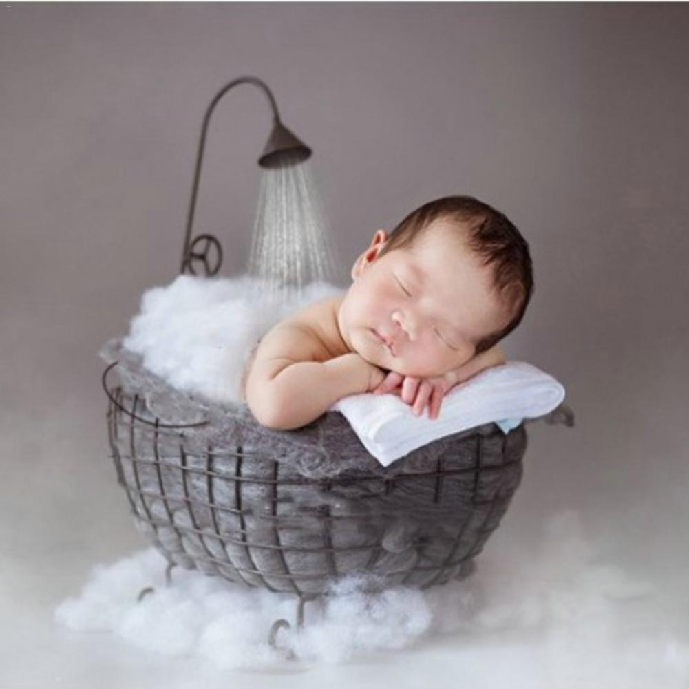 Baby Photography Props Sofa Newborn Posing Cushion Full Moon Bath Photo Shooting Cute Photography Accessories