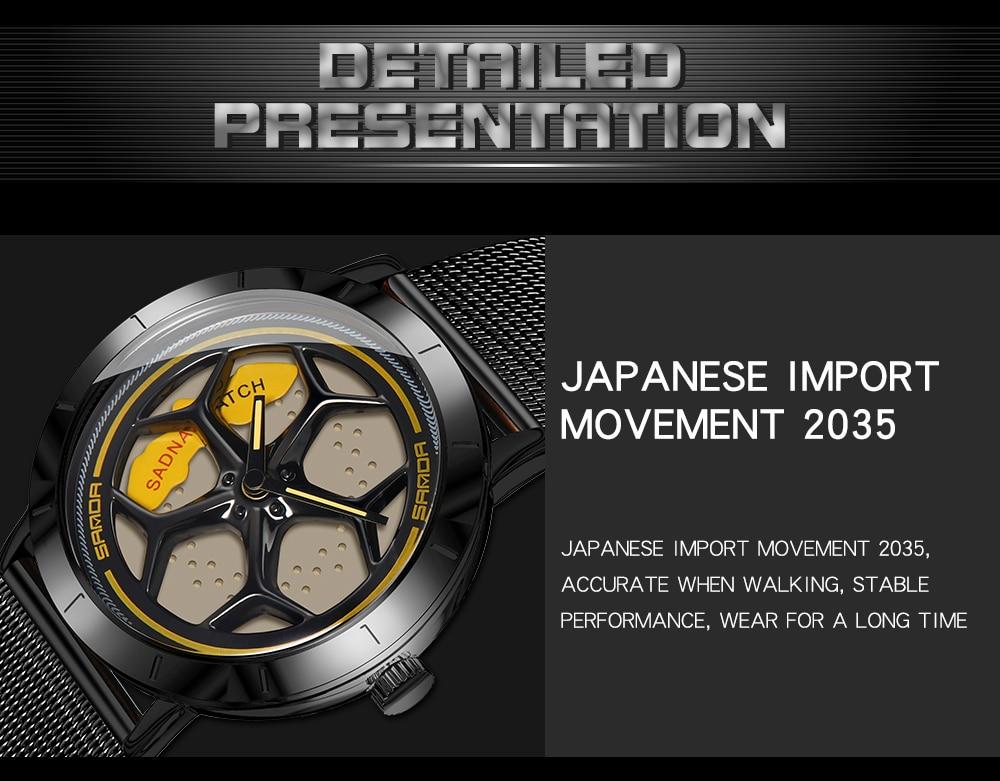 Hf71f592272d74db9971a7469b9d7bc11R Men's Watch 360 Degree Wheel Rotation Creative Quartz