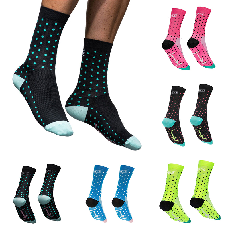Men's Cycling Socks Sports Woman Socks Anti-sweat Running Basketball Socks Knee Highs Professional Protect Running 1Pair