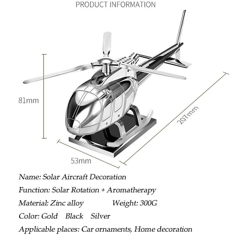 Tefanball fournitures de voiture aromathérapie hélicoptère avion décoration cadeau solaire voiture parfum parfum voiture avion ornement - 3