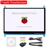 7 inch Raspberry Pi 4 3 LCD 1024*600 800*480 HDMI Touch Screen 7'' Display for Raspberry Pi 4 Model B 3B+ 3B support PC Laptop